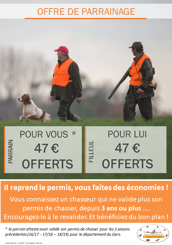 OFFRE PROMO CHASSE 19-20