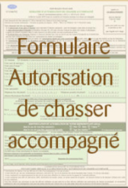 formulaire chasse accompagnee